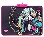 Thermaltake Tt Esports Draconem RGB Hatsune Miku Edition Gaming Mouse Pad High DPI Compatible Hard Surface Non-Slip...