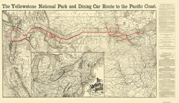 northern pacific railroad map Amazon Com Maps Of The Past Northern Pacific Railroad Yellowstone northern pacific railroad map