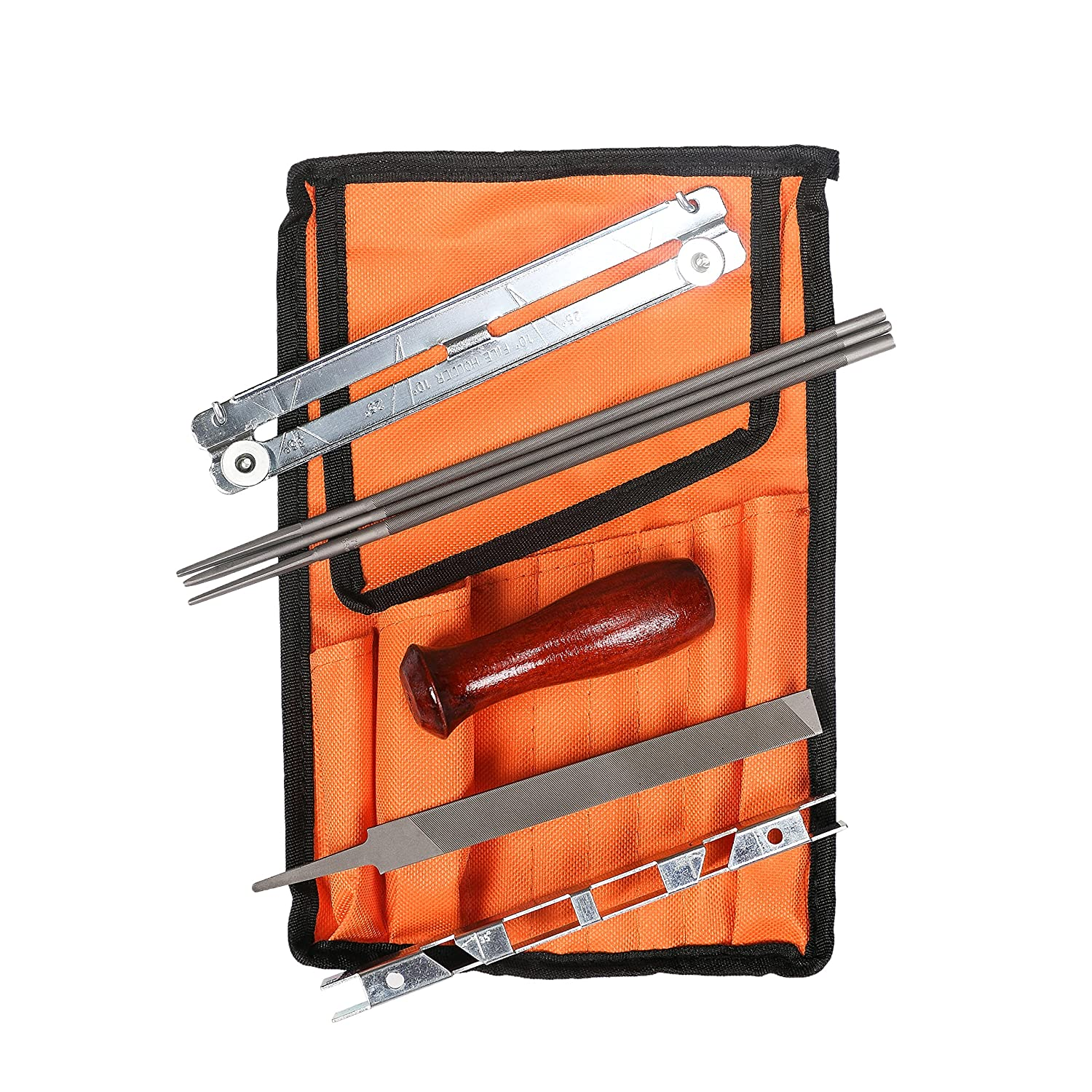 8 PCS Chainsaw Sharpening File Kit Pouch Including 5/32