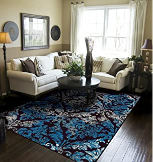 Contemporary Distressed Area Rugs For Living Room 8x10 Blue Large Dining Clearance Under