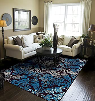 Amazon Com Contemporary Distressed Area Rugs For Living Room 8x10