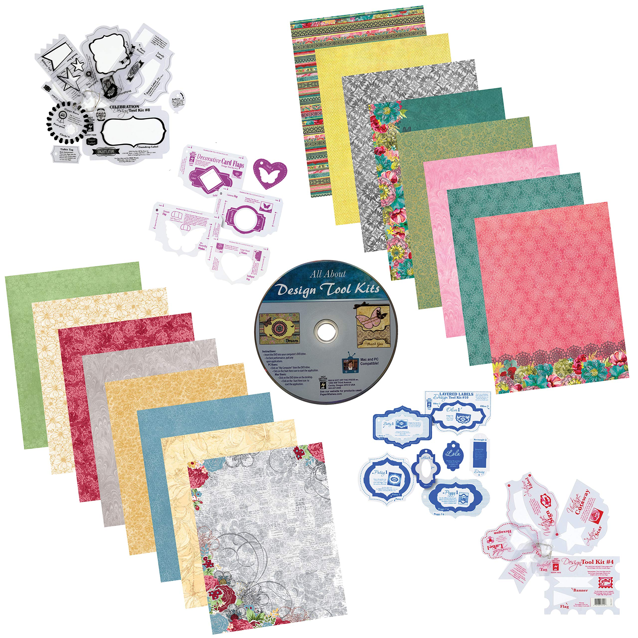 Paper Wishes - Mega Design Tool Kits with Computer DVD & Papers
