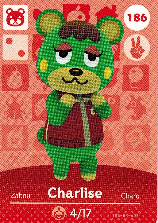 Nintendo Animal Crossing Happy Home Designer Amiibo Card Charlise 186/200 USA Version