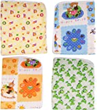 First Kids Step one sided cotton plastic sheet(Multicolor, Pack of 4)