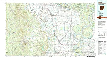 Amazon com : YellowMaps Dumas AR topo map, 1:100000 Scale