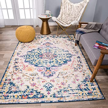 Amazon Com Rugshop Vintage Traditional Bohemian Area Rug 7 10 X 10 Dark B Furniture Decor