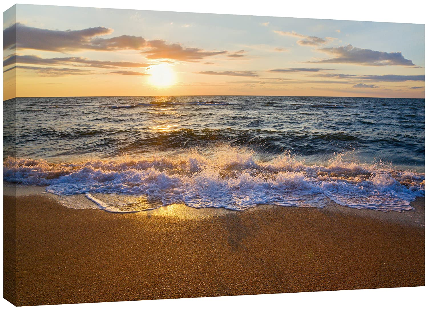 "12/""x22/"" Dusk seaside HD Canvas Print Painting Home Decor room Poster Wall Art"