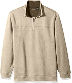 Arrow 1851 Mens Sueded Fleece 1//4 Zip Classic Soft Sweater Pullover Sweater