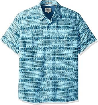 Quiksilver Hombre EQMWT03074 con Botones Manga Corta Camisa de Vestir - Azul - 3X-Large: Amazon.es: Ropa y accesorios