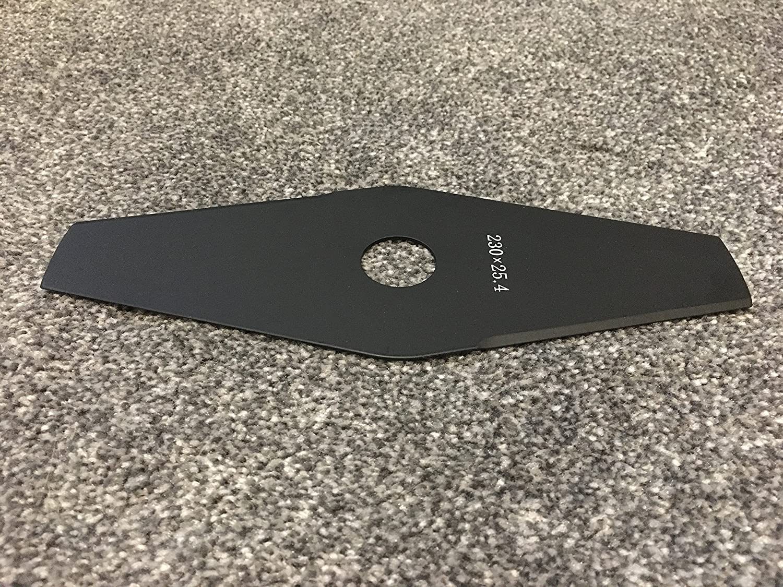 Tama/ño de la Hoja Tama/ño est/ándar m/ás com/ún y Hoja Resistente 230 x 25,4 1,6 mm de Grosor Bushcutter Blade Cuchilla para desbrozadora o desbrozadora para zarzas Strimmer