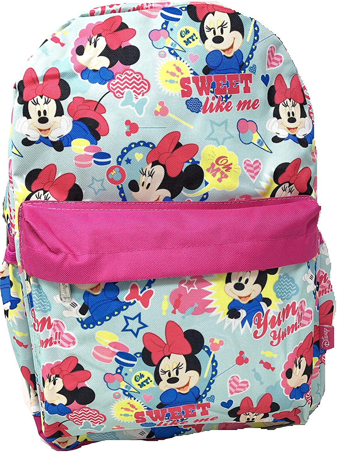 Disney Minnie Mouse Allover PrintSWEET LIKE ME 16 Backpack For Girls