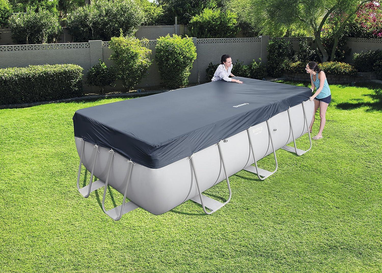 Bestway 58232 - Cubierta para piscina de estructura splash 404 × 201 cm / 412 × 201 cm, medidas de cobertor 3.96 m x 1.85 m: Amazon.es: Jardín