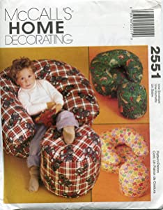 McCall's Home Decorating Pattern 2551 ~ Childrens' Chair and Ottoman