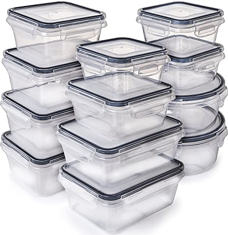 fe09c2c0c5d  12-Pack  Food Storage Containers with Lids - Plastic Food Containers with  lids