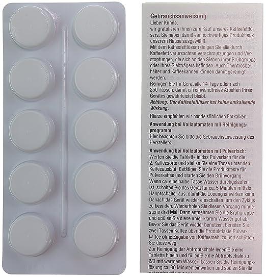 10 pastillas de limpieza para cafeteras automáticas | por ejemplo ...