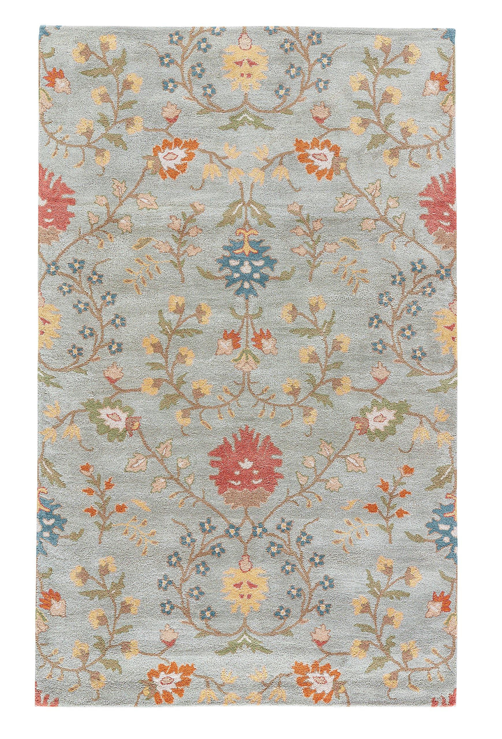 Jaipur Living Amara Hand-Tufted Floral & Leaves Blue Area Rug (8' X 11')