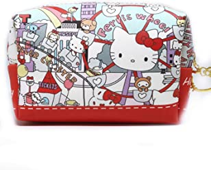 Hello Kitty Makeup Bag, Perfect Cosmetic Bag for Travel, Brushes, and Accessories,