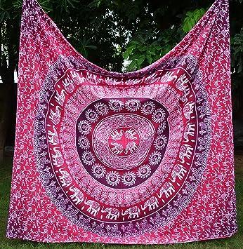 apoorva Ombre, diseño de mandala, color rosa, Hippie, diseño de mandala