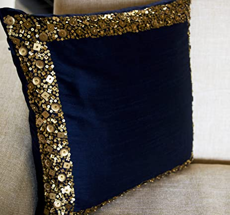 Amazon Amore Beaute Handcrafted Beaded Throw Pillow Covers