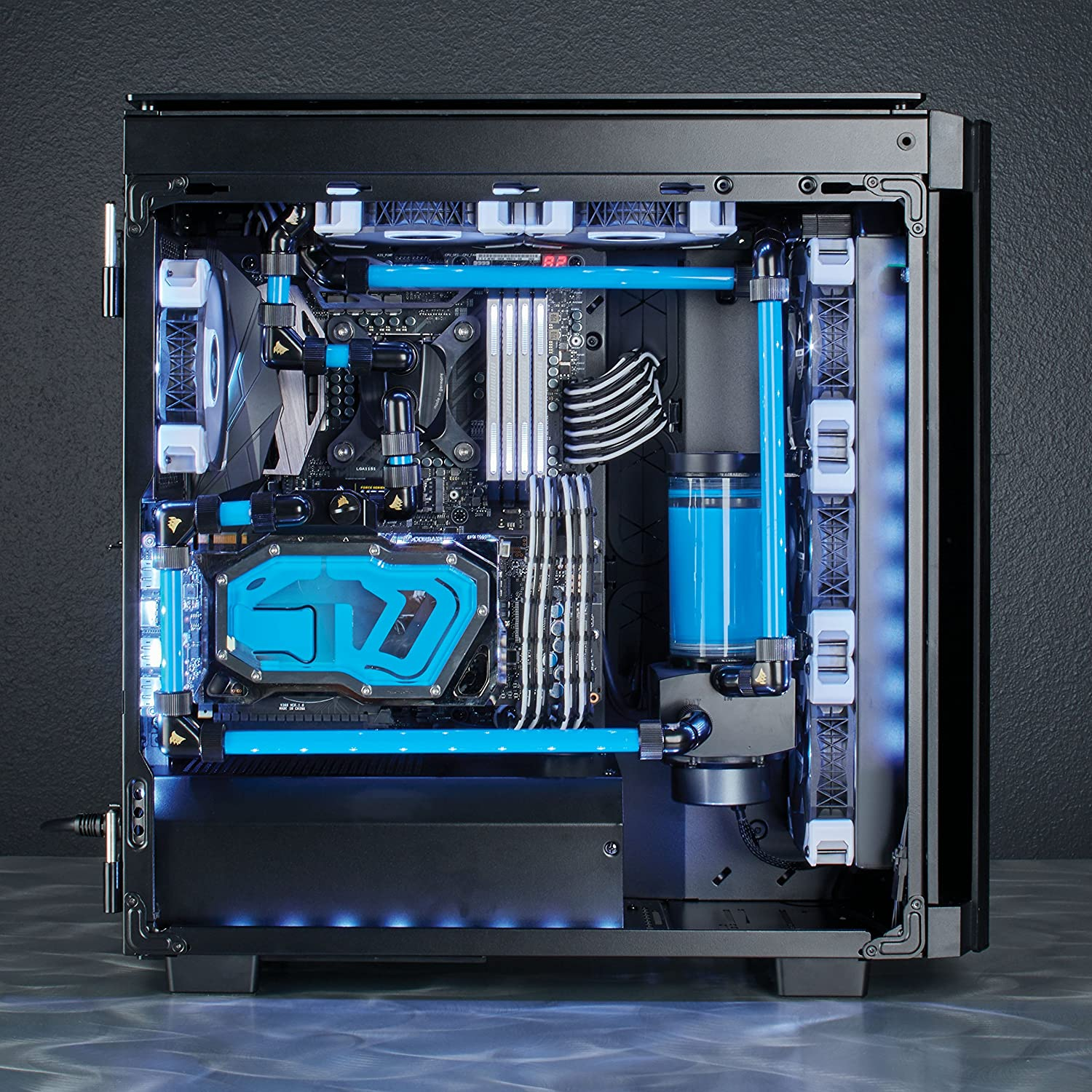 Smoked Tempered Glass CORSAIR Obsidian 500D Mid-Tower Case Aluminum Trim
