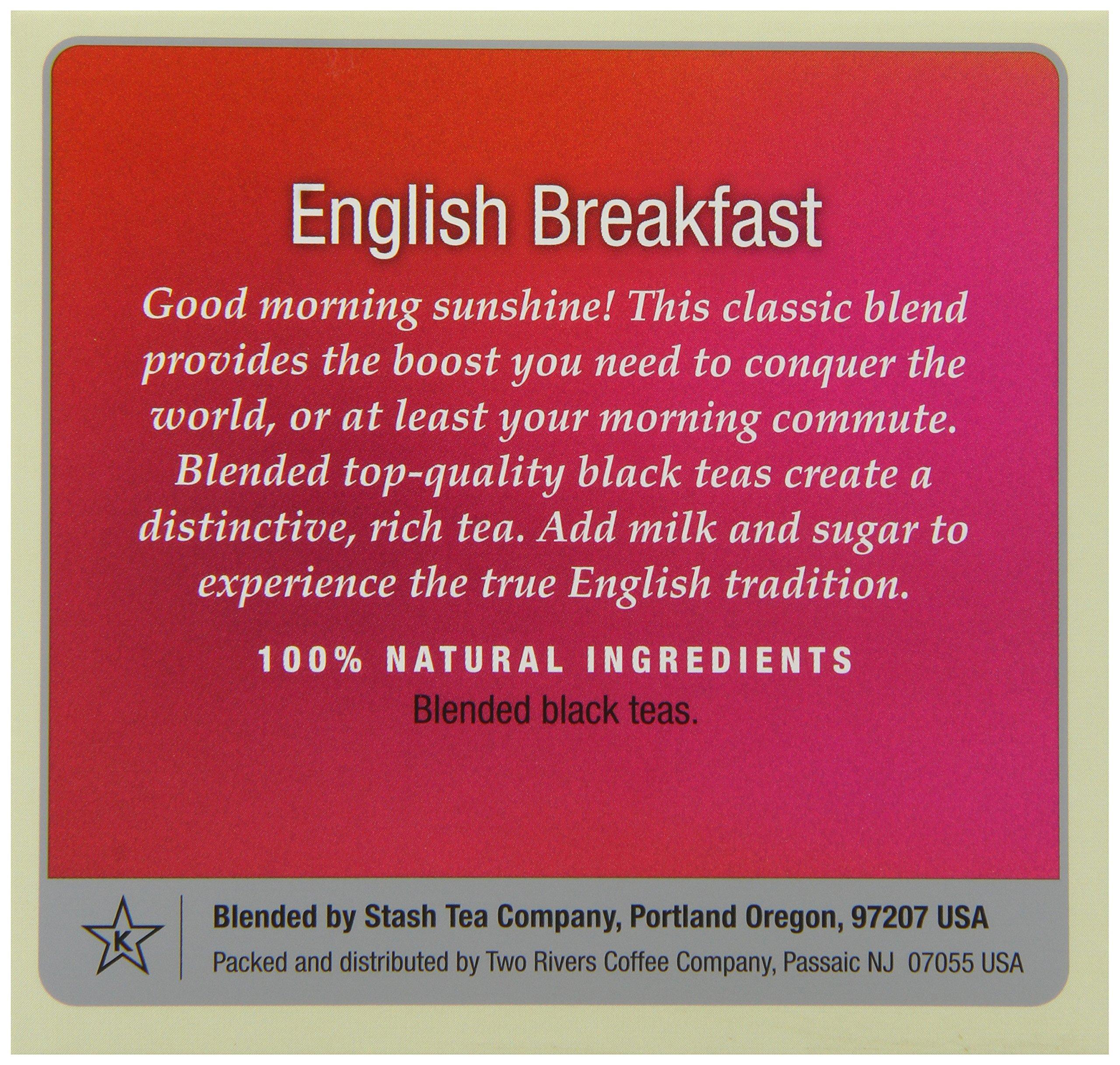Stash Tea English Breakfast Single-Cup Tea for Keurig K-Cup Brewers, 12 Count (Pack of 6)
