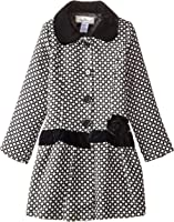 Widgeon Big Girls' Velvet Trim Coat
