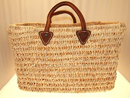 Extra Large French Natural Hand woven , Shopping/Market Basket with