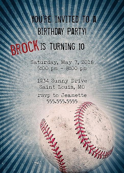 amazon com customized baseball birthday party invitation toys