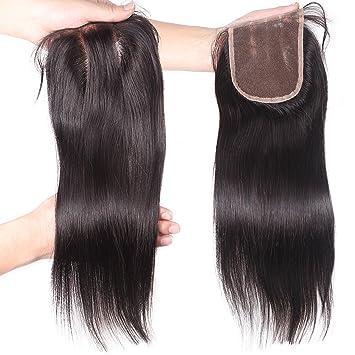 Fushen Hair 4x4 Lace Closure Straight Human Hair 3 Part Closure with Baby  Hair 8 inches