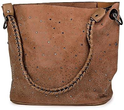 b2a0c9cbd94d0 styleBREAKER Handtaschen Set mit Strassapplikation im Sternenhimmel Design