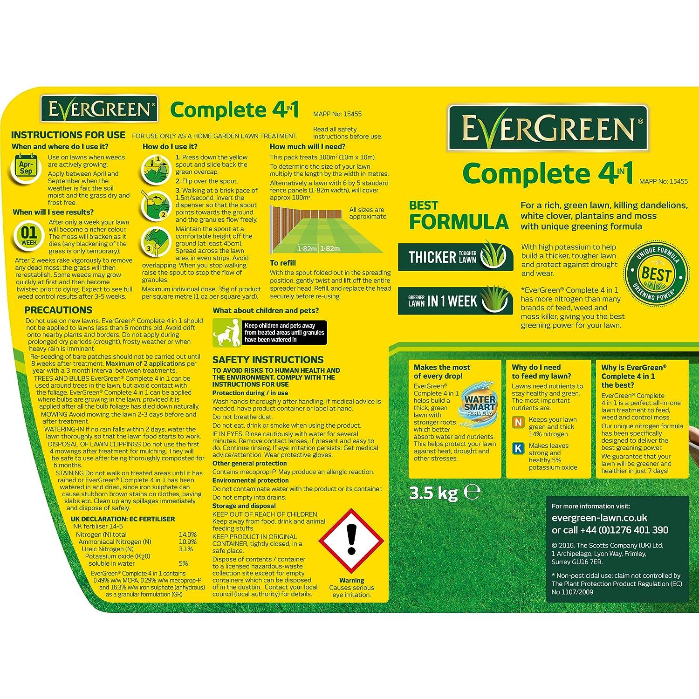 Evergreen 100sqm Complete 4 In 1 Lawn Care Spreader Amazon
