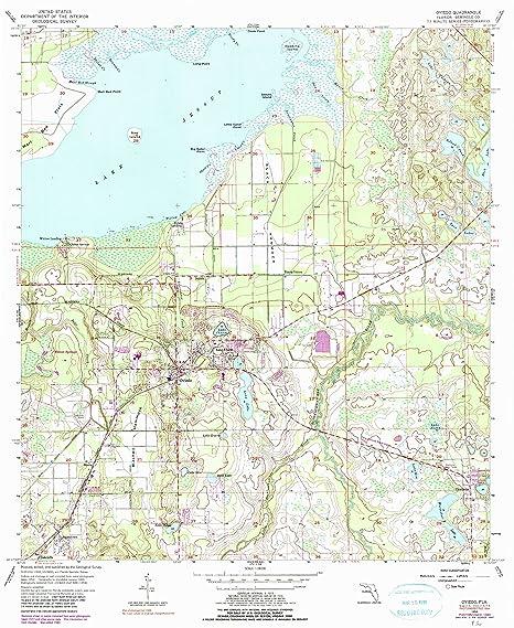 Oviedo Florida Map.Amazon Com Oviedo Fl Topo Map 1 24000 Scale 7 5 X 7 5 Minute