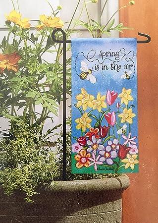 Perfect Mini Flag With Mini Metal Stand. Flower Pot Decor. 5u0026quot; X 13u0026quot;