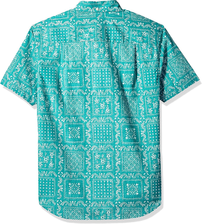 Reyn Spooner Men's Original Lahaina Weekend Wash Tailored Fit Hawaiian Shirt Button Original Lahaina - Lagoon