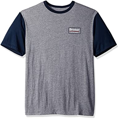 652d9b34d9 Amazon.com: Brixton Men's Palmer Standard Fit Short Sleeve Knit Tee:  Clothing