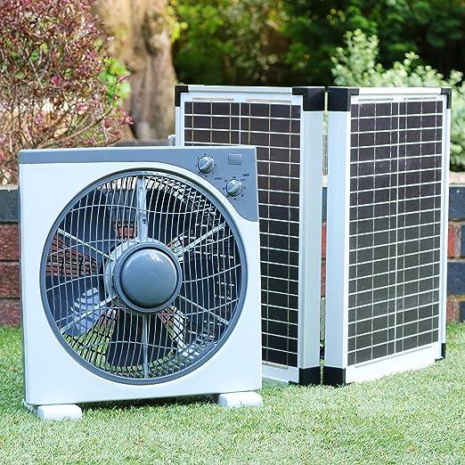 Ventilador solar PK verde 12 V 40 W con panel solar plegable. Kit ...