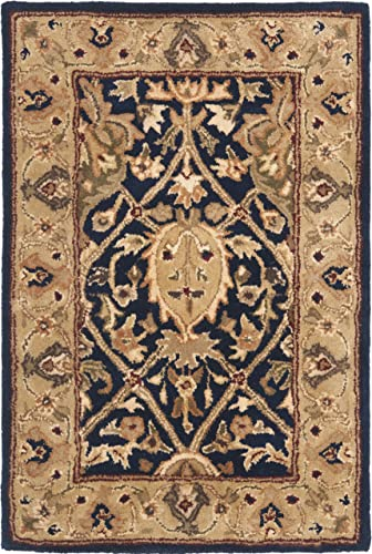 Safavieh Persian Legend Collection PL819C Handmade Traditional Blue and Gold Wool Area Rug 2'6″ x 4'