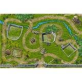 Dinosaure Parc - SM07 - tapis de jeu / Jeu tapis pour la chambre des enfants - Dimensions: 150 x 100cm - Accessoires adaptés à Schleich, Papo, Bullyland, Playmobil etc.