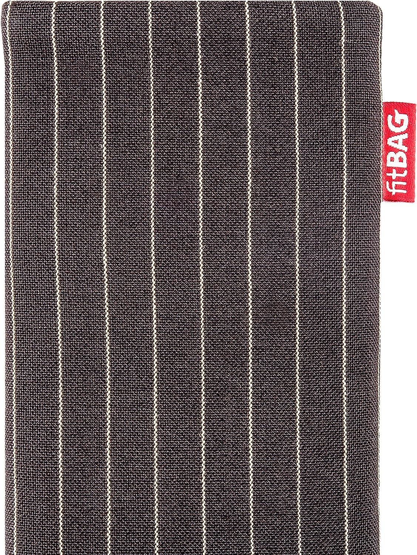 H/ülle mit Reinigungsfunktion Made in Germany fitBAG Rock Wei/ß Handytasche Tasche aus Textil-Stoff mit Microfaserinnenfutter f/ür Samsung Galaxy A51