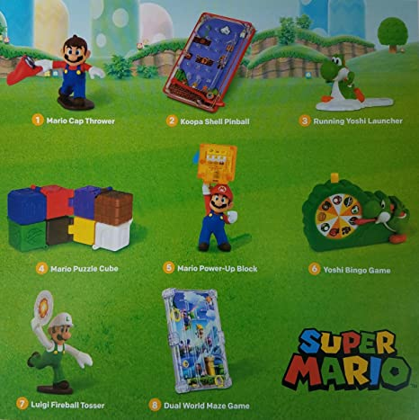 Amazon.com: McDonald\'s 2018 SUPER MARIO - COMPLETE SET: Toys & Games