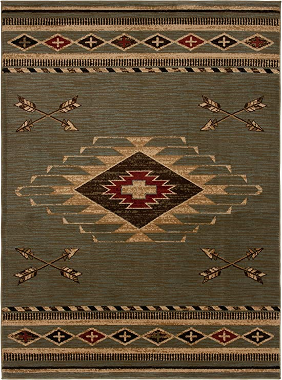 Amazon Com Mayberry Rugs Arrowhead Area Rug 7 10 X9 10 Slate Furniture Decor