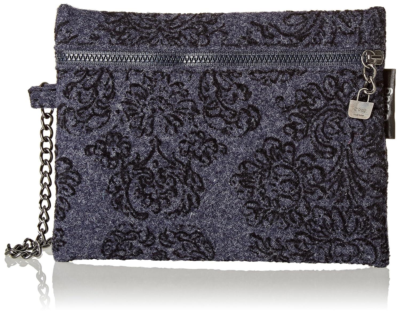 O bag Feltro Damascato, Carteras de mano Mujer, Blu, 1.5x15x19 cm (W x alto largo): Amazon.es: Zapatos y complementos