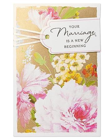 Amazon american greetings new beginning wedding card with foil american greetings new beginning wedding card with foil m4hsunfo