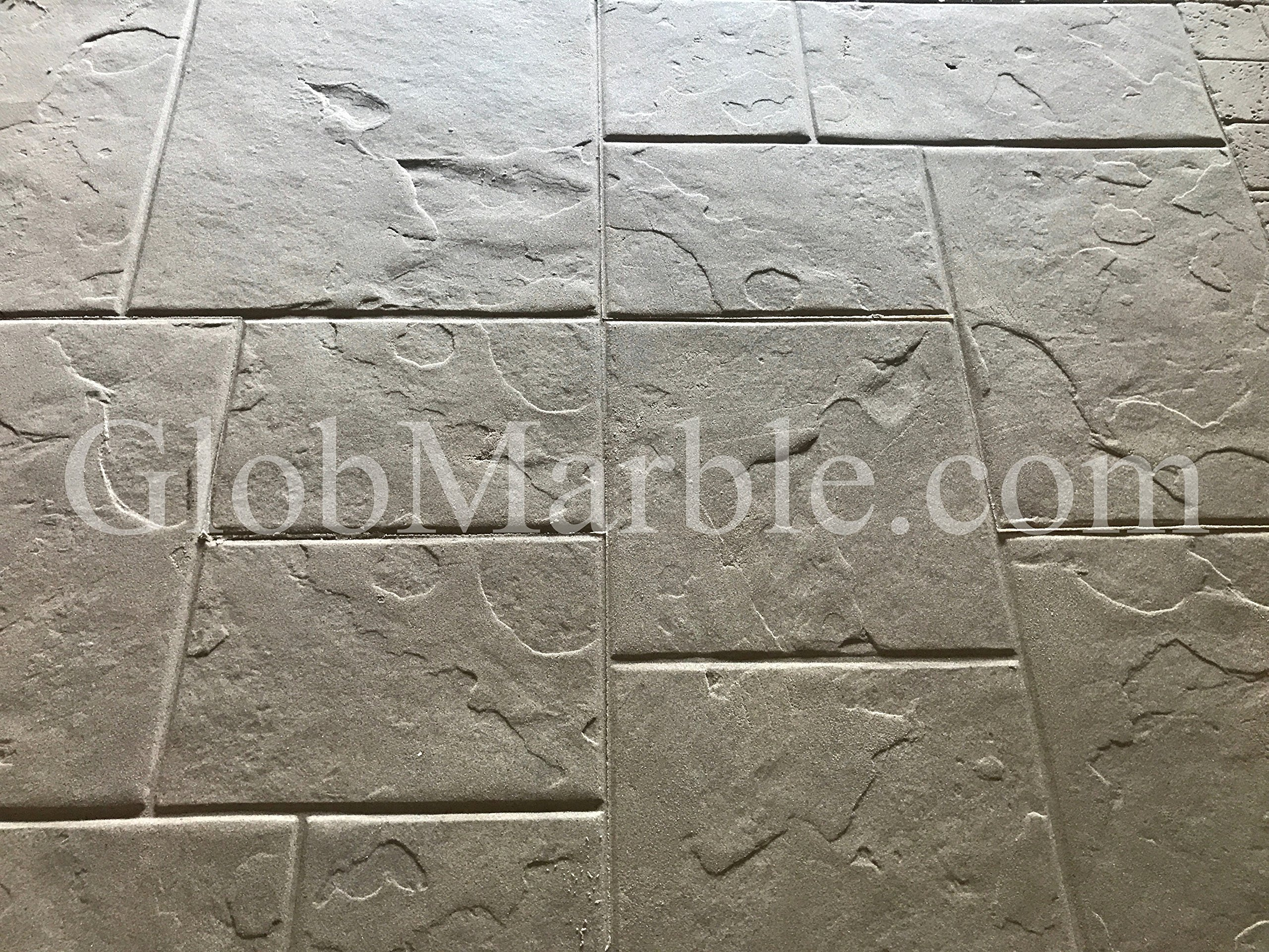 Concrete Ashlar Slate Stamps SM 3100 5 Piece Set 28 x 28 inches by GlobMarble