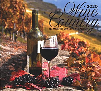 Amazon Com 2020 Wine Country Full Size Wall Calendar 16 Month Office Products