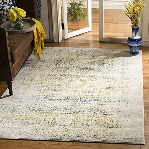 Safavieh Evoke Collection EVK232C Vintage Oriental Ivory and Blue Area Rug 8' x 10'