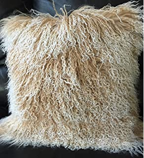 Amazon.com: Genuine tibetano de Mongolia Lamb Fur almohada ...