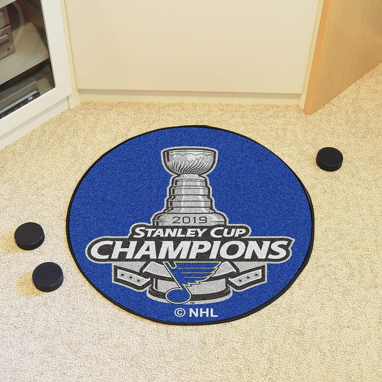 Louis Blues 2019 Stanley Cup Champions Puck Mat 27 Diameter FANMATS St