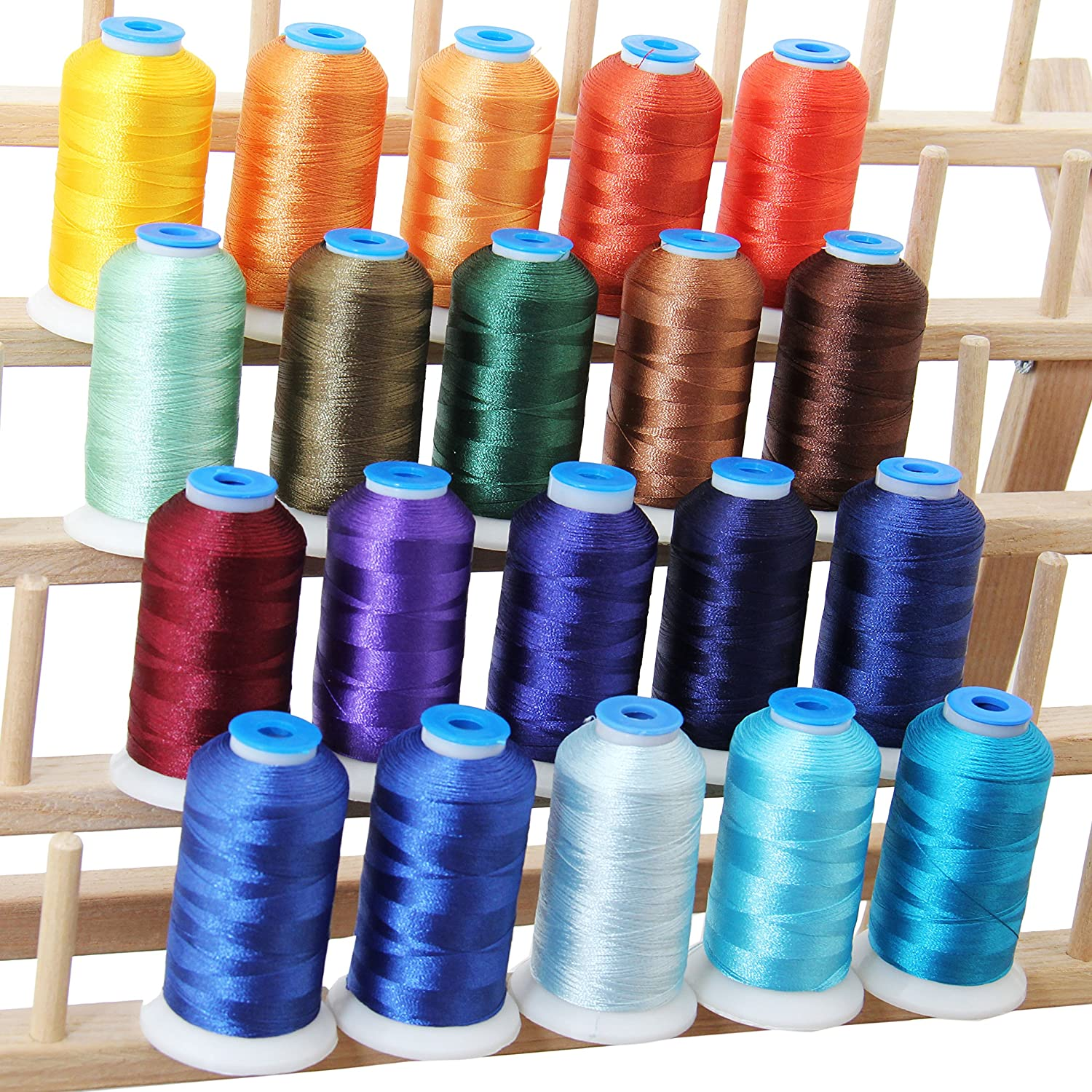 20 Cone Set Polyester Embroidery Thread 1000m Spools - Pastel Colors (11 Different sets available) Threadart