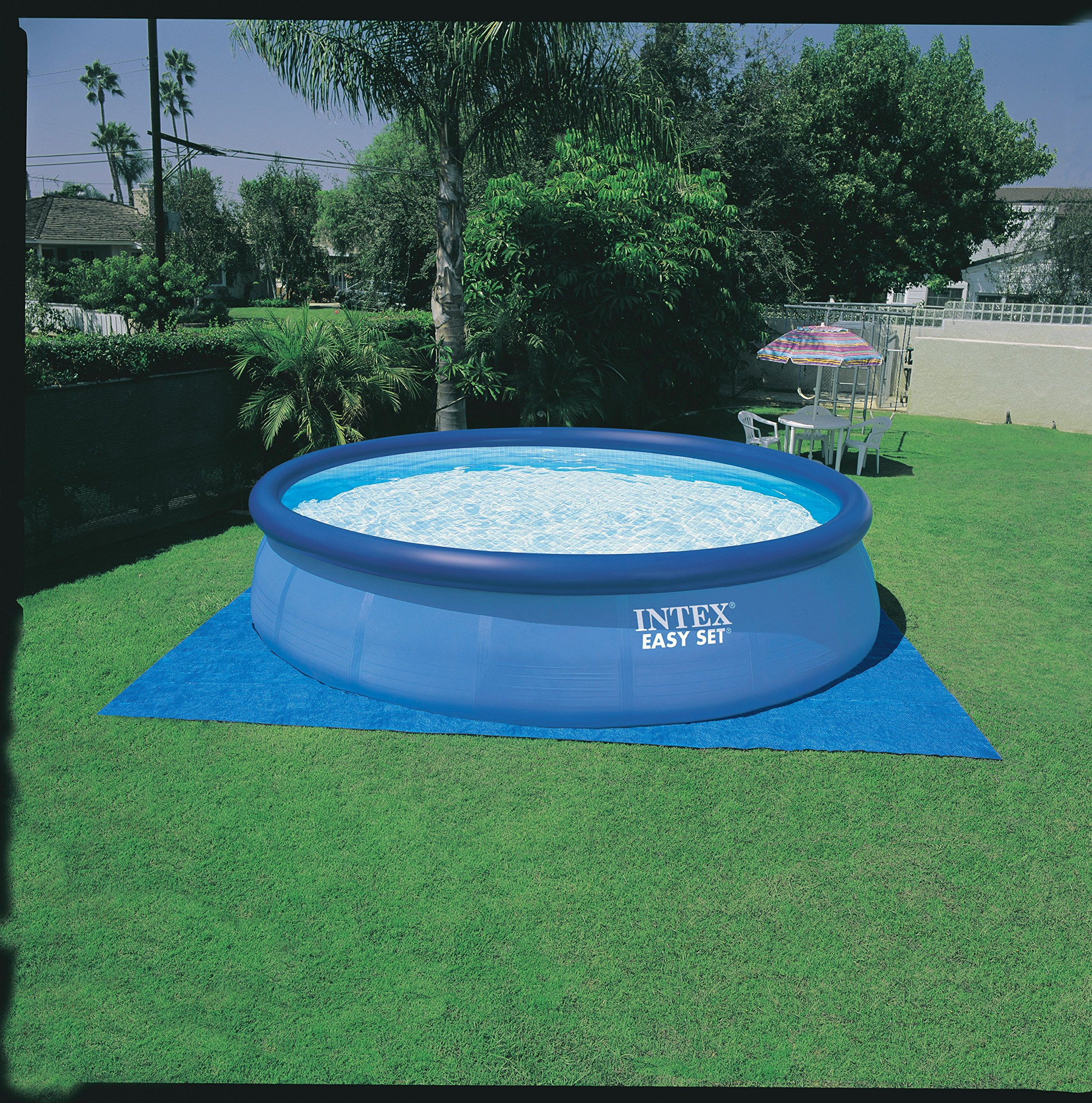 Intex 15ft X 48in Easy Set Pool Set with Filter Pump, Ladder, Ground Cloth & Pool Cover by Intex (Image #3)